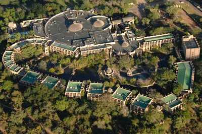 Aerial view of the Kingdom Hotel, Victoria Falls