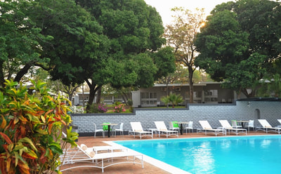Pool are at the Sprayview Hotel, Victoria Falls
